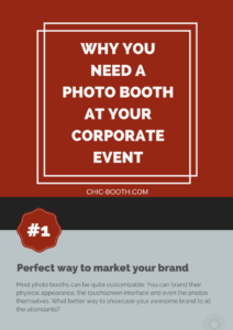 Why you need a photo booth at your corporate event