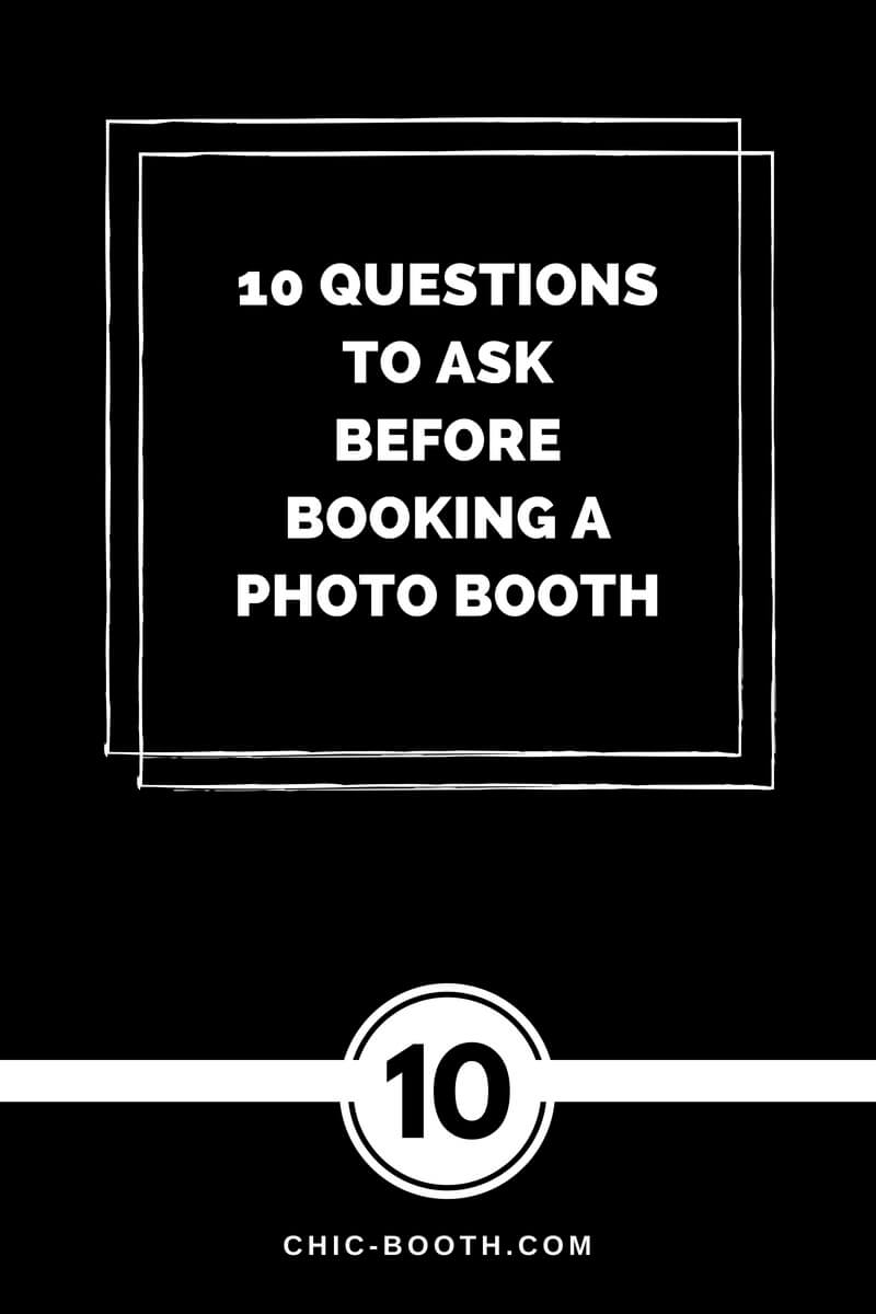 10 Questions to ask before booking a photo booth