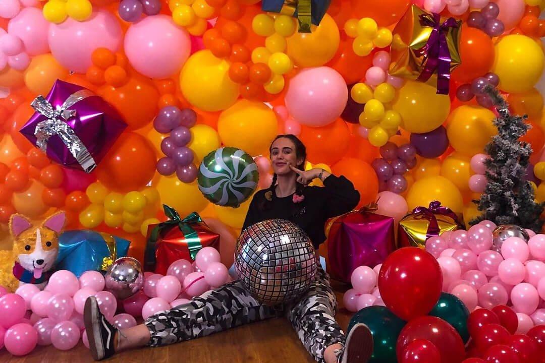 Custom Balloons Backdrop